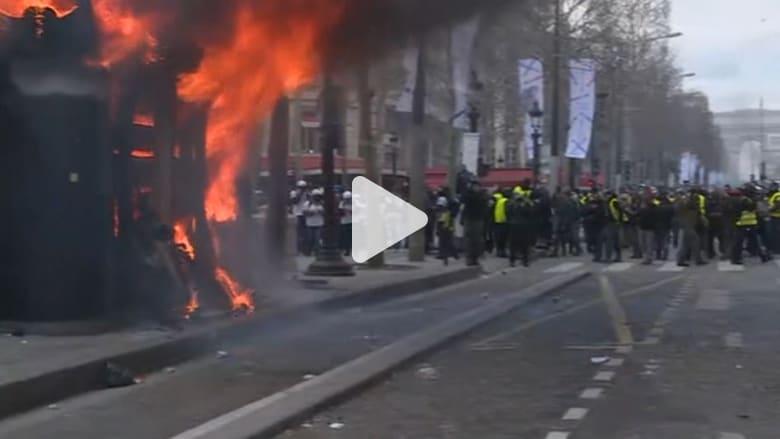 إصابات في اشتباكات بين الشرطة والسترات الصفراء في باريس