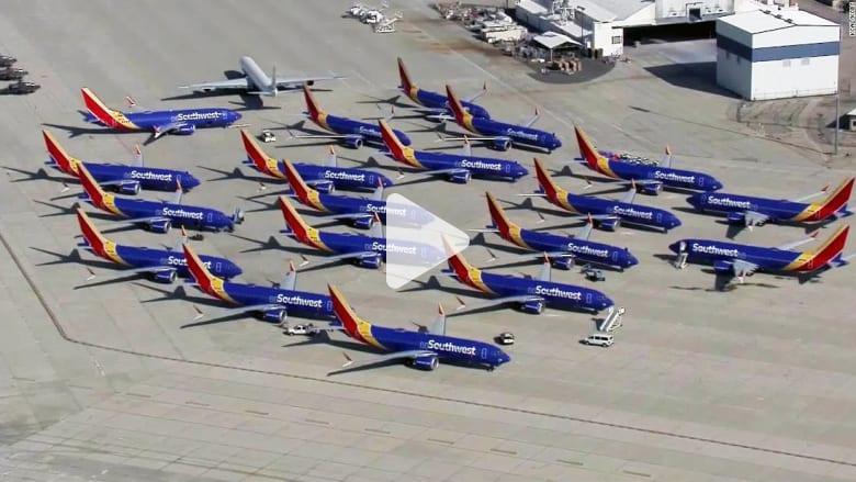 هبوط اضطراري لطائرة 737 ماكس أثناء طريقها للتخزين بسبب الحظر
