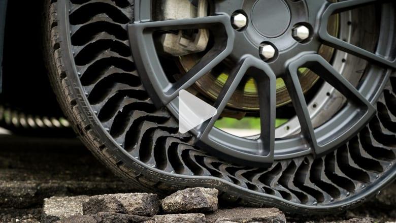 إطارات بدون هواء قد تقضي أخيراً على مشاكل انثقاب العجلات
