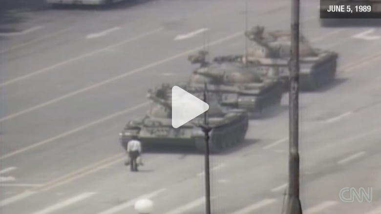 أرشيف CNN.. الرجل الذي تحدى الدبابة في تيانانمن قبل 30 عاما