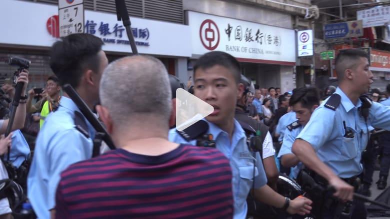 اشتباكات بين متظاهرين وشرطة هونغ كونغ
