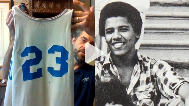 بثقوب وروائح.. بيع قميص لأوباما من الإعدادية بـ120 ألف دولار