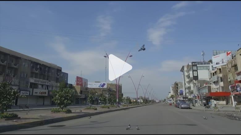 """بغداد تتحول إلى """"مدينة أشباح"""" بعد فرض حظر تجول بسبب فيروس كورونا"""