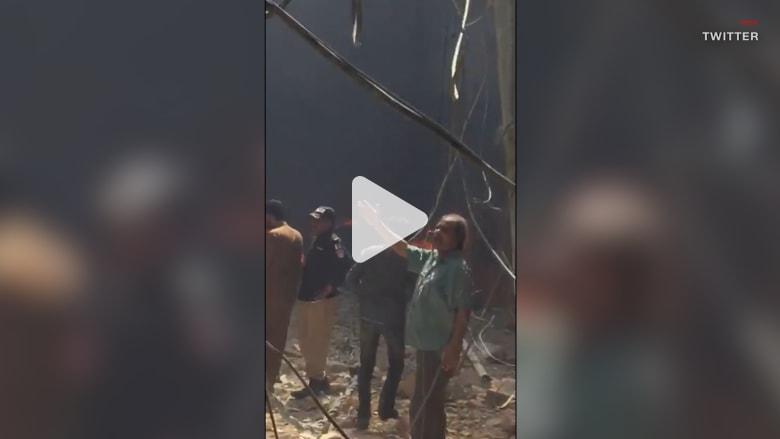 شاهد.. اللحظات الأولى بعد تحطم طائرة ركاب باكستانية