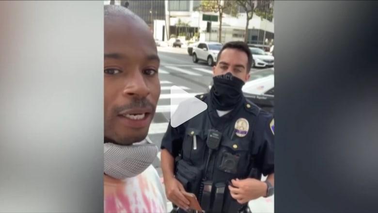 """""""هذا سخيف"""".. أمريكي يسجل لحظة توقيفه من الشرطة """"لأنه أسود"""""""