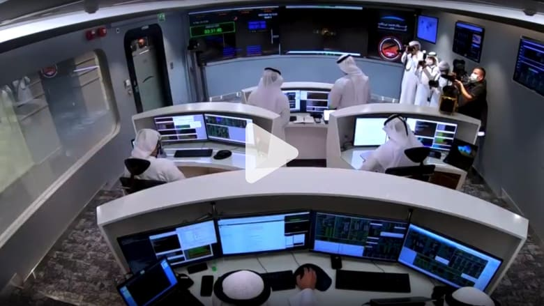 Watch the moment to announce the success of the Emirati Al-Amal probe to Mars