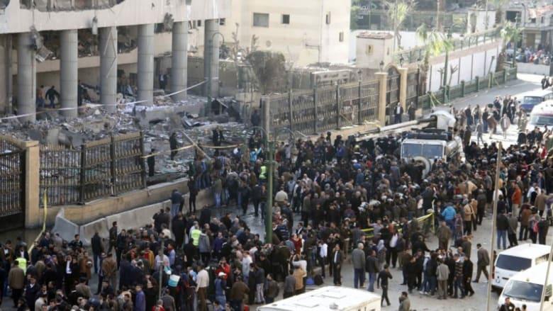 بالصور: تفجير مديرية أمن القاهرة