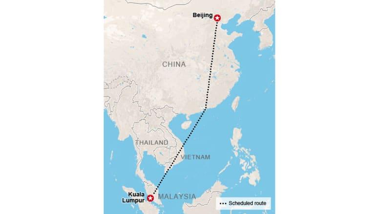 لغز الرحلة الماليزية المنكوبة.. بالخرائط