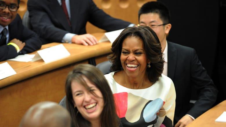 بالصور .. سيدة البيت الأبيض وعائلتها في الصين