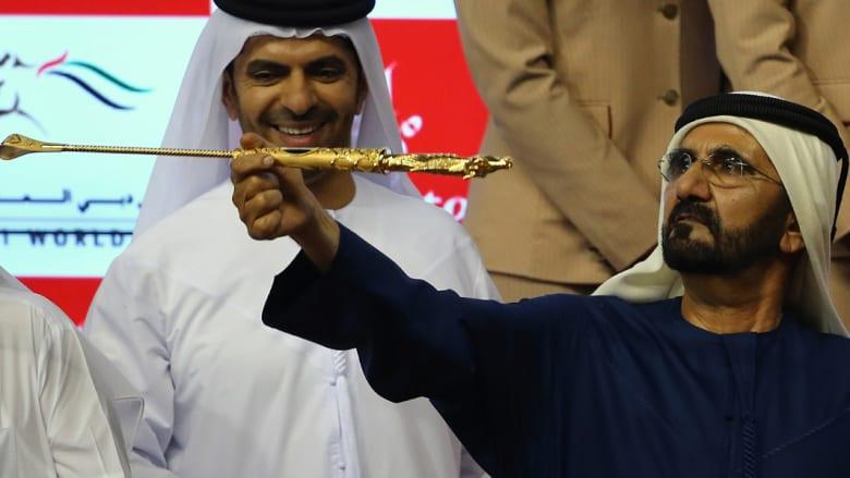 الشيخ محمد بن راشد يفوز بأغلى سباق للخيول بالعالم