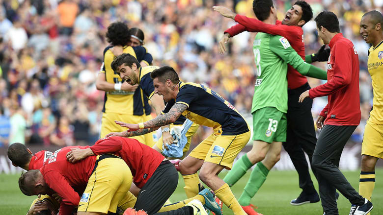 مباراة أتليتيكو مدريد وبرشلونة