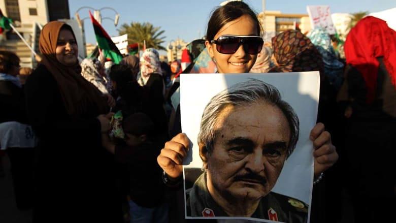 ليبيا: الآلاف بمظاهرات تأييد للواء خليفة حفتر