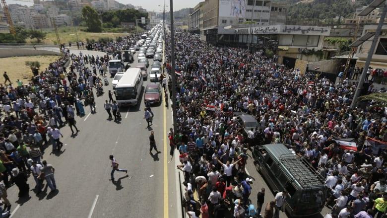 انتخابات الرئاسة السورية.. مشاهد من أمام سفارة سوريا ببيروت