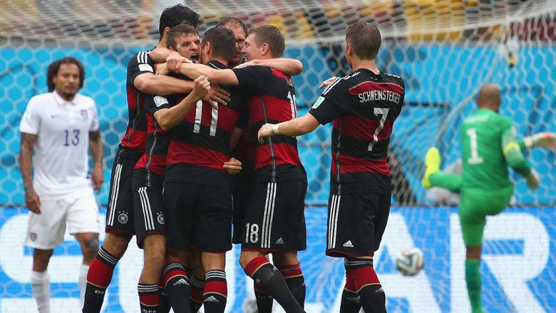 تصدر منتخب ألمانيا المجموعة السابعة بـ7 نقاط، بعد فوزه الكبير على البرتغال برباعية نظيفة، ثم التعادل مع منتخب غانا بهدفين لكل منهما، قبل أن يفوز على نظيره الأمريكي بهدف دون مقابل.