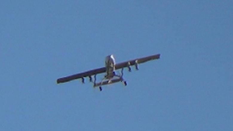 """بالصور: طائرة """"أبابيل"""" الحمساوية تصور فوق إسرائيل وتستعرض صواريخها"""
