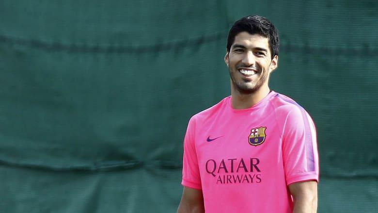 رغم العقوبة... سواريز يبدأ تدريباته مع برشلونة بمعنويات عالية