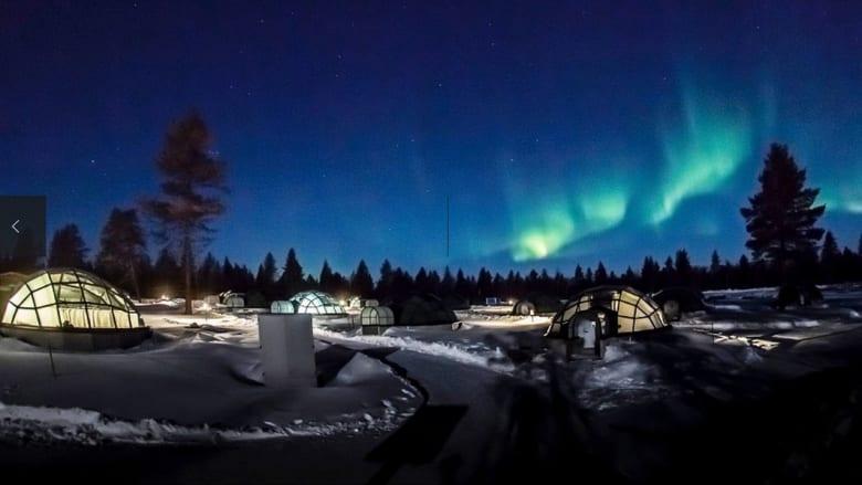 منتجع كاكسالاتونانين القطبي في منطقة لابلاند