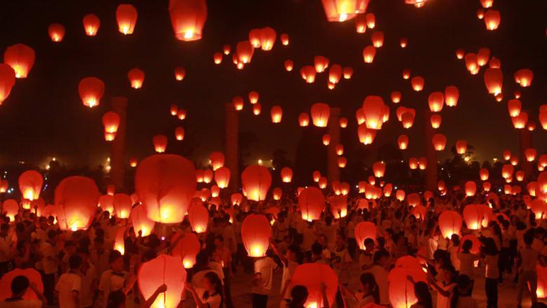 احتفال منتصف الخريف بالصين
