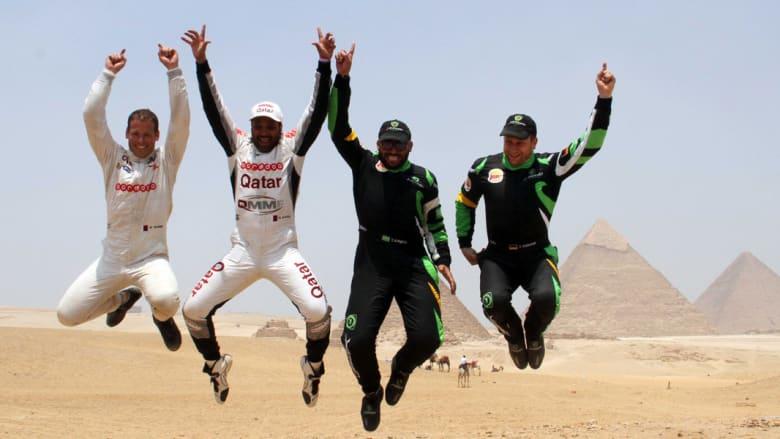 """السعودي الراجحي يتوج بطلا  لرالي قبرص ويلغي فقرة """"الاحتفال بالشمبانيا"""""""