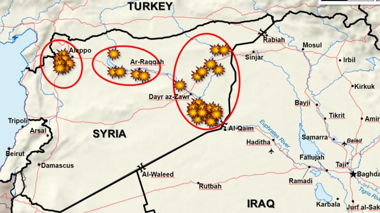 بالصور قبل وبعد.. الضربات الأمريكية على معاقل داعش
