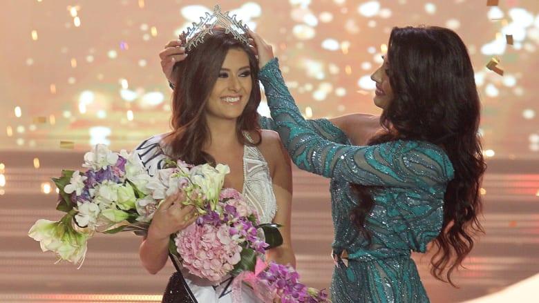 تتويج سالي جريج ملكة جمال لبنان لعام 2014 في بيروت