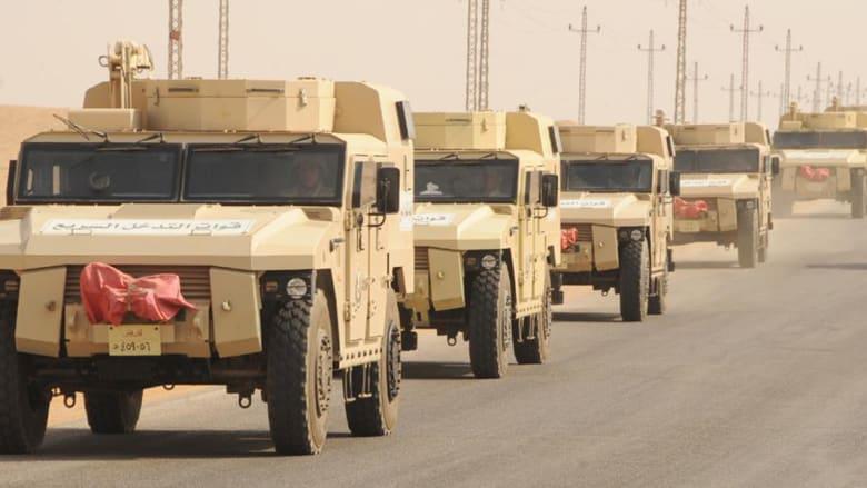 """بالصور.. انتشار """"غير مسبوق"""" لقوات الجيش المصري في شمال سيناء"""