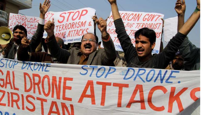 """مقتل 4 بينهم """"أمير عربي"""" للجماعة المسلحة في غارة بوزيرستان وباكستان تحتج"""