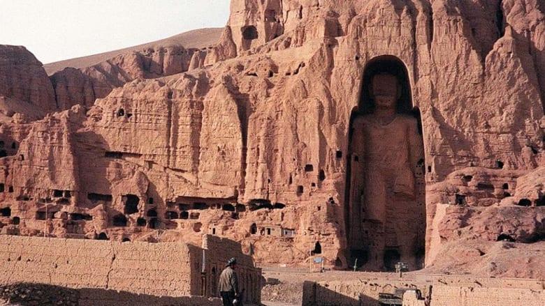 تمثال بوذا في باميان بأفغانستان