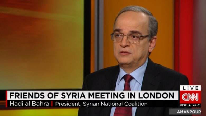 رئيس المعارضة السورية لـCNN: بدء تدريب قوات المعارضة المعتدلة لن يكون قبل فبراير المقبل
