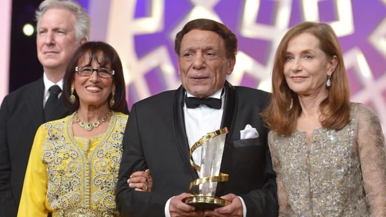 آلان ريكمان، ثريا جبران، عادل إمام وإيزابيل هوبير في حفل الافتتاح