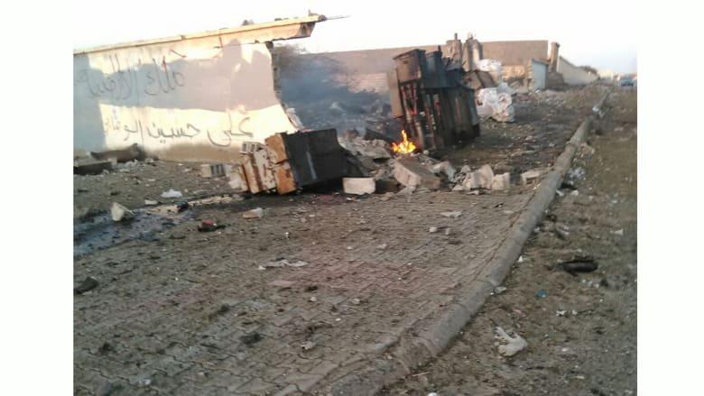 صور توثق التفجير الانتحاري لتنظيم القاعدة لموقع تابع للحوثيين في اليمن