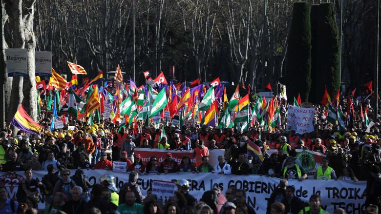 """بالصور.. مظاهرات """"الكرامة"""" بإسبانيا السبت"""