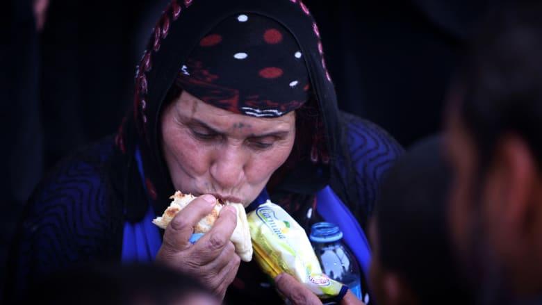 الفارون بأرواحهم من حرب داعش في الموصل