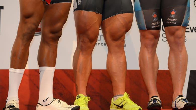 فخذ أسرع دراج.. طبيعي أم نتيجة بناء الأجسام؟