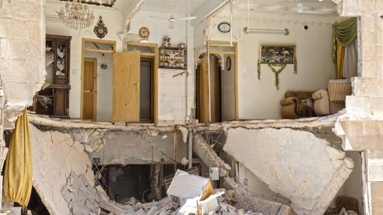 هرب الناس من شققهم لتجنب القصف من النظام السوري