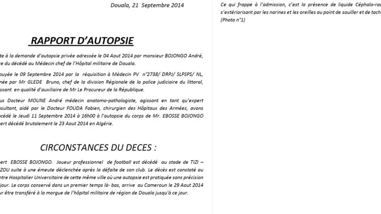 محام فرنسي وتقرير طبي كاميروني يقولان إنّ اللاعب ايبوسي قتل عمدا في الجزائر