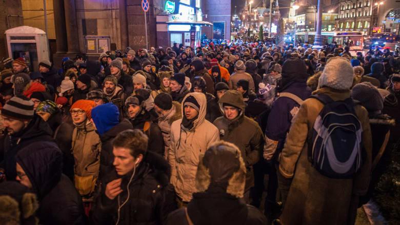 بالصور.. مظاهرات بروسيا احتجاجا على اعتقال معارض بارز للكرملين