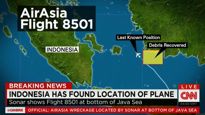 كارثة الرحلة 8501.. الطائرة ترقد في قاع البحر وانتشال 6 جثث بينهم مضيفة بكامل زيها