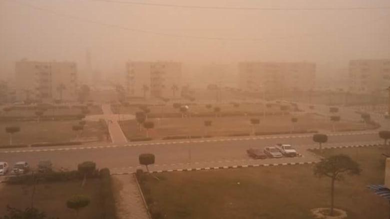 عاصفة رملية في الاسكندرية - أرسلها أحمد عبد الدايم