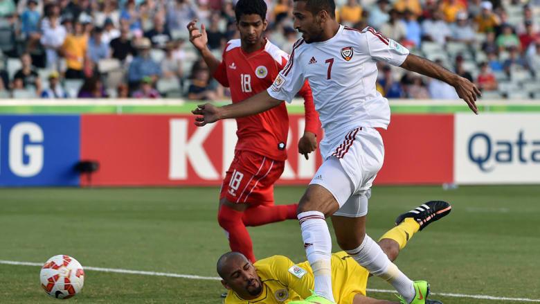 الإمارات تتقدم بأسرع هدف في تاريخ كأس آسيا والبحرين ترد بهدف جميل