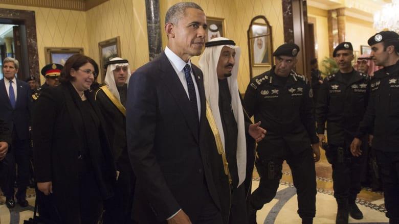 بالصور.. أوباما بالسعودية لتعزية الملك سلمان عبدالعزيز