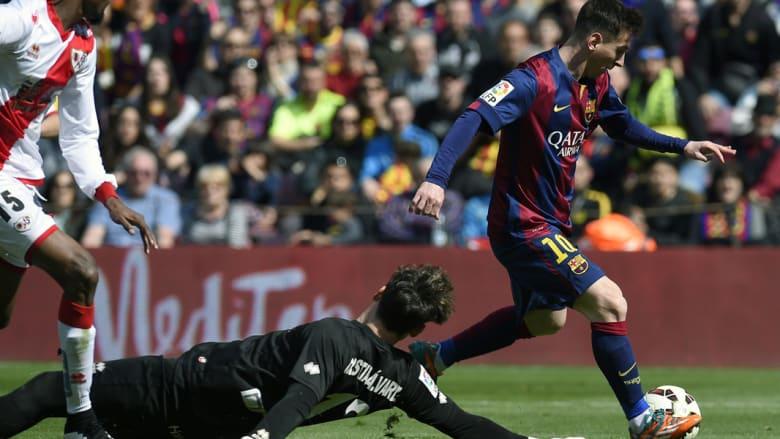 هدف آخر لميسي خلال الدوري الاسباني