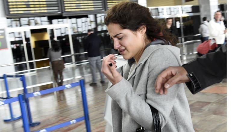 إحدى أقارب الضحايا بعد سماع نبأ سقوط الطائرة