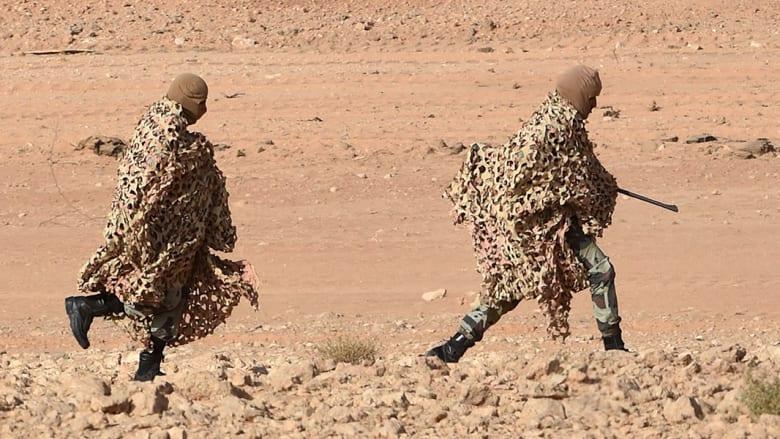 قناصة سعوديون يشاركون في إحدى الجولات التدريبية.