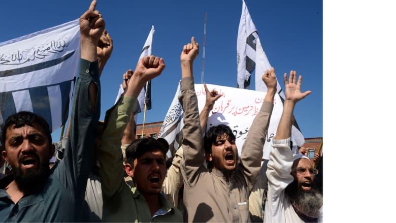 من مسيرة جماعة الدعوة في لاهور الباكستانية 3 أبريل/ نيسان 2015