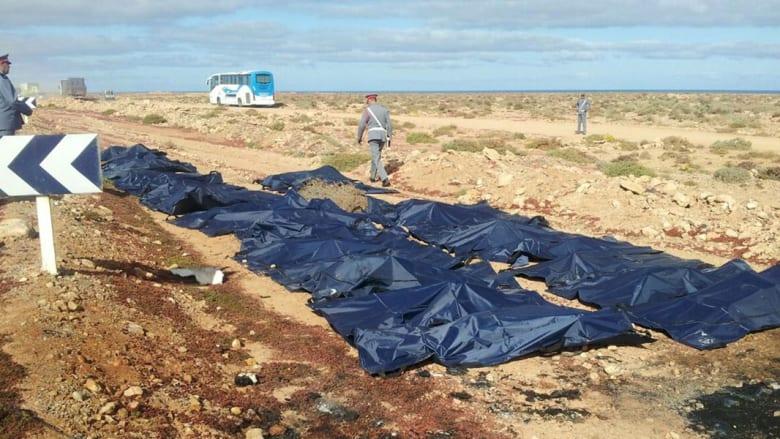 بالصور.. مشاهد أولية لحادث بالمغرب أودى بحياة 34 شخصاً على الأقل