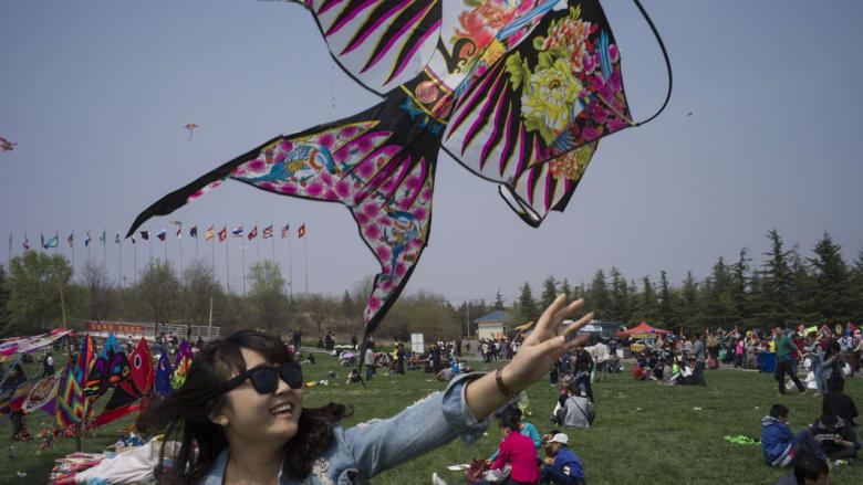انطلاق مهرجان الطائرات الورقية في إقليم شاندونغ الصيني