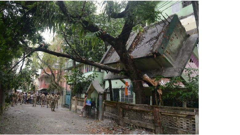 آثار الدمار في سيليغوري، الهند 25 أبريل/ نيسان 2015