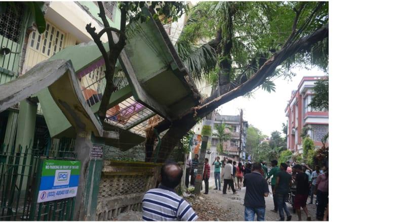 أثار الدمار في سيليغوري الهندية، جراء الزلزال الذي ضرب نيبال وأجزاء من الهند، 25 أبريل/ نيسان 2015