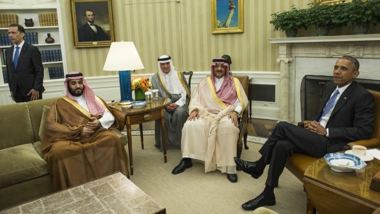 بالصور.. استقبال أوباما لمحمد بن نايف ومحمد بن سلمان على رأس وفد سعودي بكامب ديفيد